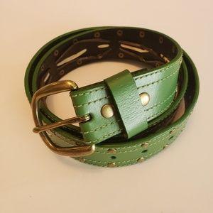 Old Navy Green Bonded Leather Belt.